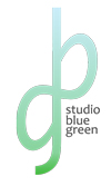 studio blue green